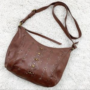 Lucky Brand Brown Crossbody Studded Purse